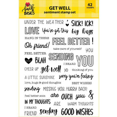 Back To Basics 6x8 Get Well Sentiment Stamp Set