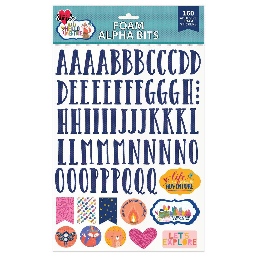 Hello Adventure Foam Alpha Bits Stickers