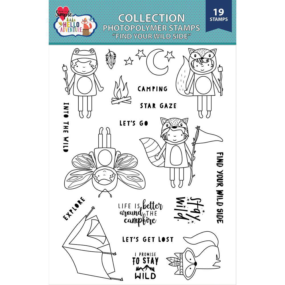 Hello Adventure 6x8 Find Your Wild Side Stamp Set