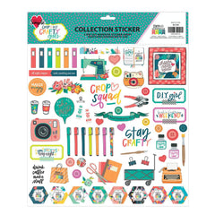 Crafty Girls 12x12 Sticker Sheet (2019)