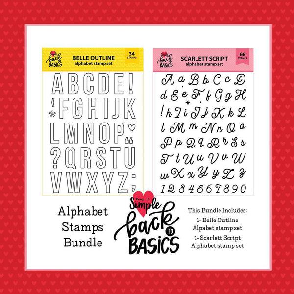 Back To Basics 6x8 Alphabet Stamp Set Bundle