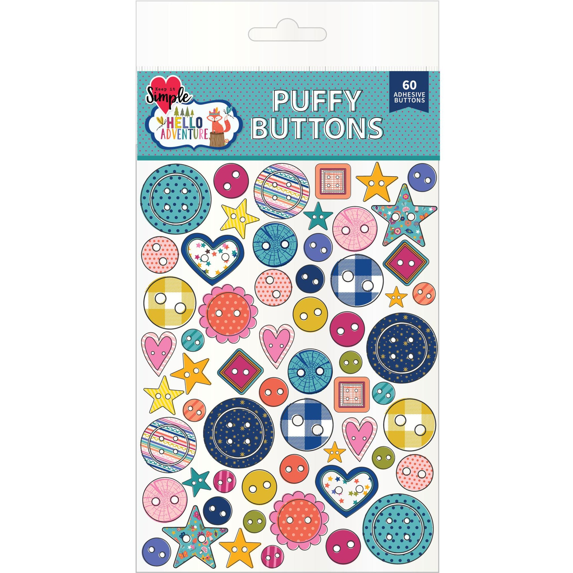 Hello Adventure Puffy Sticker Buttons