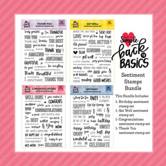 Back To Basics Sentiment Stamp Bundle