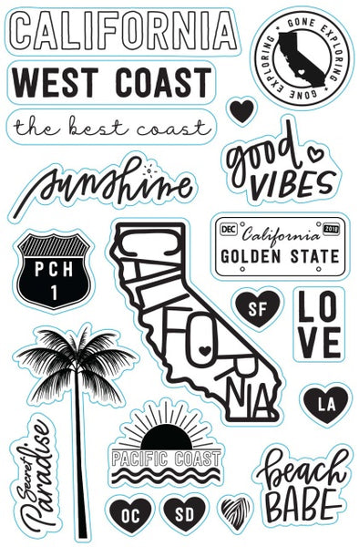 Wandering Planners California Love 4x6 Stamp Set