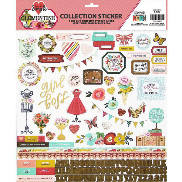 Clementine 12x12 Sticker Sheet