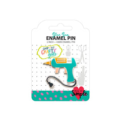 Crafty Girls Enamel Pins - Glue Gun