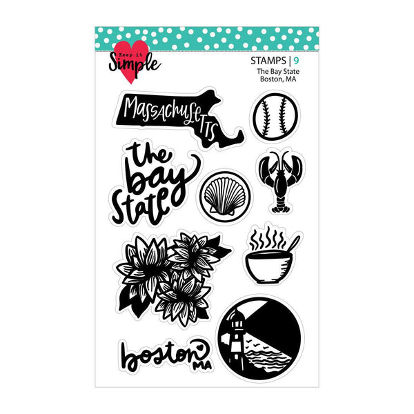 The Bay State: Massachusetts 4x6 Stamp Set