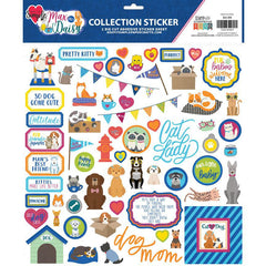Max & Daisy 12x12 Sticker Sheet