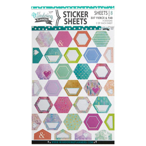 Crafty Girls 5x7 Sticker Sheets: FIERCE & FAB