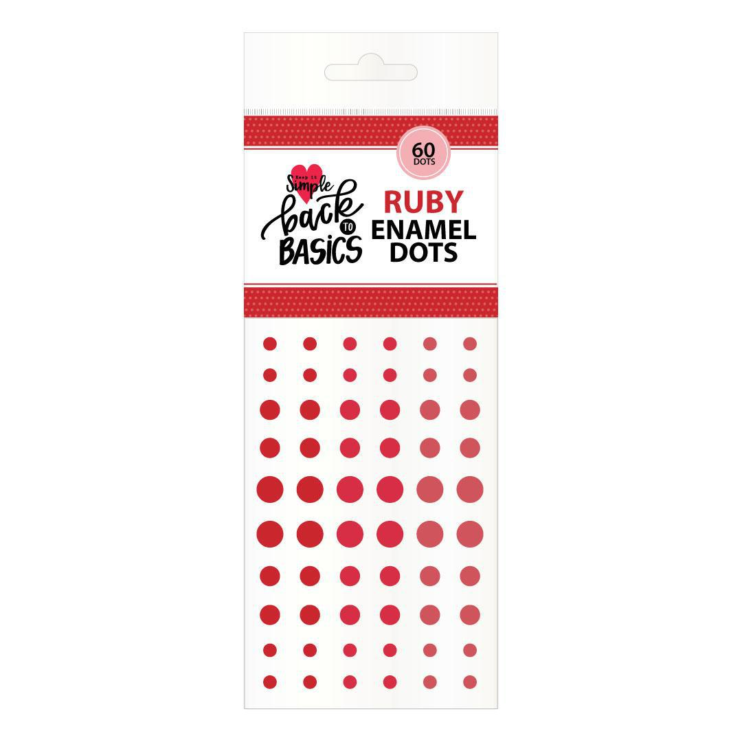 Back To Basics Ruby Enamel Dots
