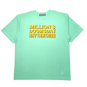 rhythm tribe × Million Dollar Doomsday  LAHR $¥TEE / Green