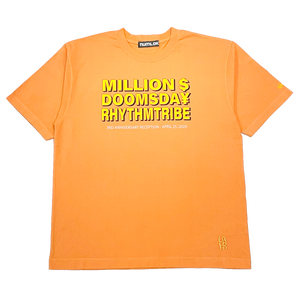 rhythm tribe × Million Dollar Doomsday  LAHR $¥TEE / Orange