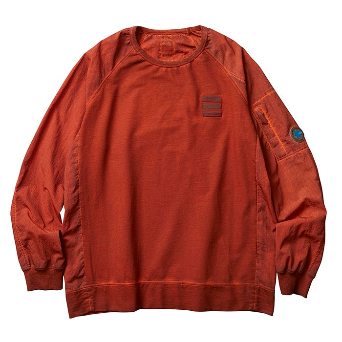 Liberaiders 「OVERDYED NYLON SLEEVES CREWNECK」