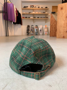 Stussy BIG LOGO PLAID LOW PRO CAP