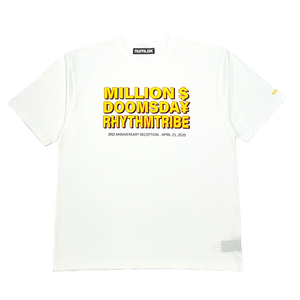 rhythm tribe × Million Dollar Doomsday  LAHR $¥TEE / White