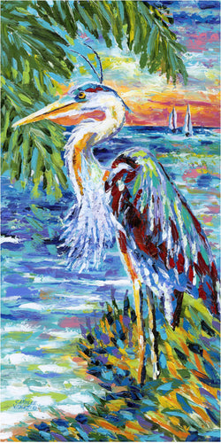Tropical Colorful Heron painting