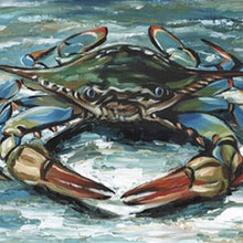Load image into Gallery viewer, Blue Crab II | Canvas Print