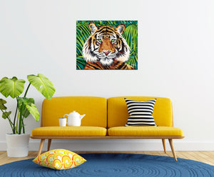 Bold Tiger | Original Acrylic Painting