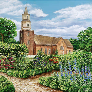 Bruton Parish Church | Original Acrylic Painting