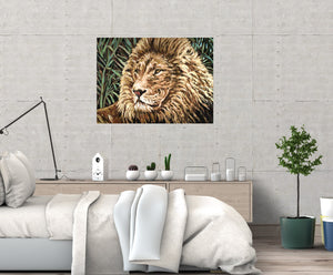 Cecil The Lion | Original Acrylic Painting