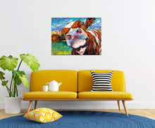 Load image into Gallery viewer, Curious Cow | Canvas Print