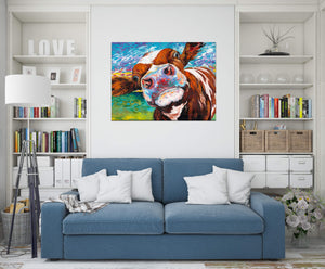 Curious Cow | Canvas Print