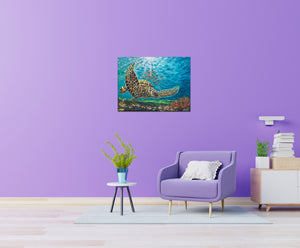 Deep Sea Swimming | Canvas Print