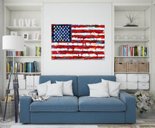 Load image into Gallery viewer, Colorful american flag painting in Family room
