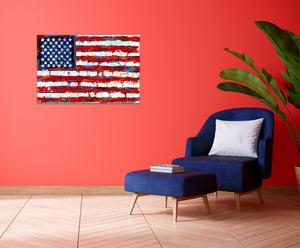 Dramatic Stars & Stripes | Canvas Print