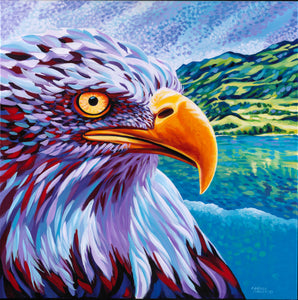 Majestic Eagle painting