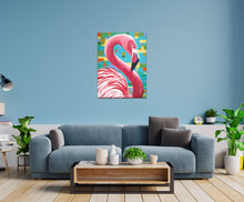 Load image into Gallery viewer, Fabulous Flamingo | Original Acrylic Painting