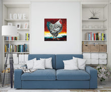 Load image into Gallery viewer, Fancy Chicken | Original Acrylic Painting