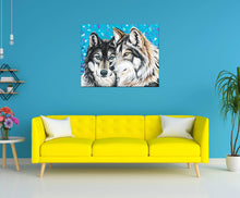 Load image into Gallery viewer, Grey Wolves | Original Acrylic Painting