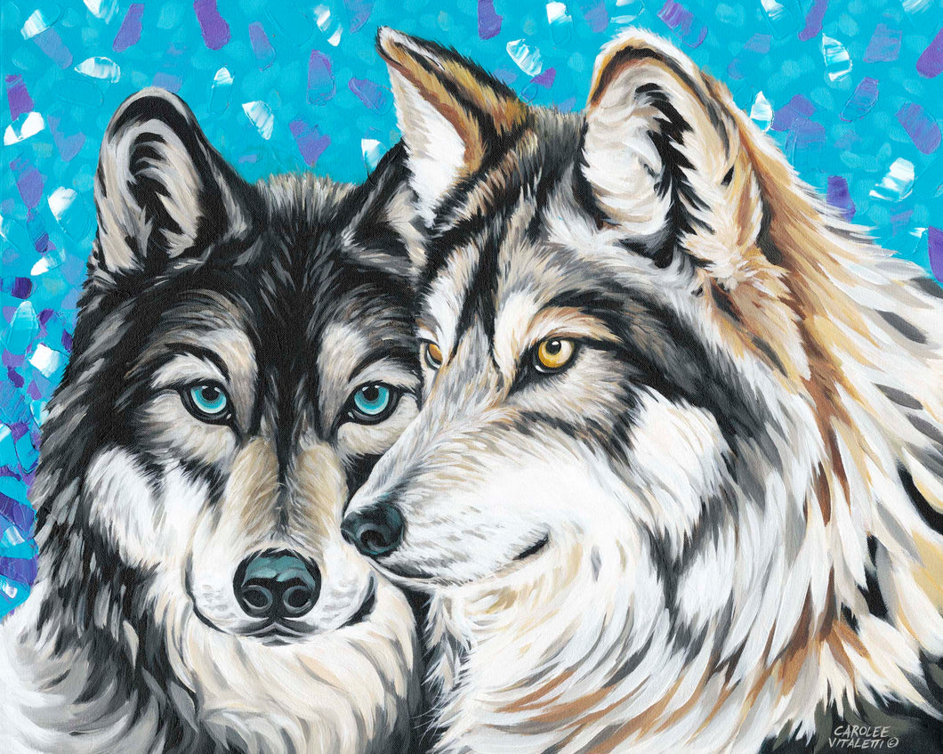Grey Wolves | Original Acrylic Painting