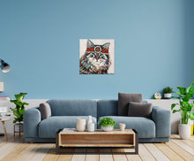 Load image into Gallery viewer, Hippie Cat | Canvas Print