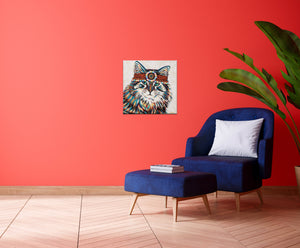 Hippie Cat | Canvas Print
