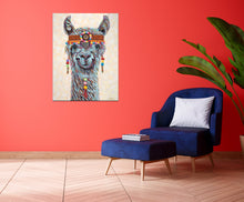 Load image into Gallery viewer, Hippie Llama | Original Acrylic Painting