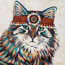 Load image into Gallery viewer, Hippie Cat | Original Acrylic Painting