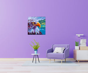 Majestic Eagle painting in a family room