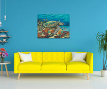 Load image into Gallery viewer, Ocean Floor Swimming | Canvas Print