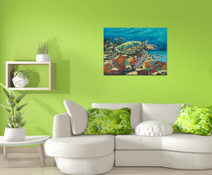 Ocean Floor Swimming | Canvas Print