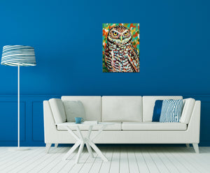Painted Owl | Canvas Print