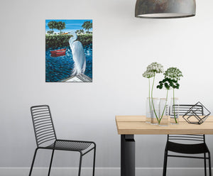 Peaceful Egret | Canvas Print