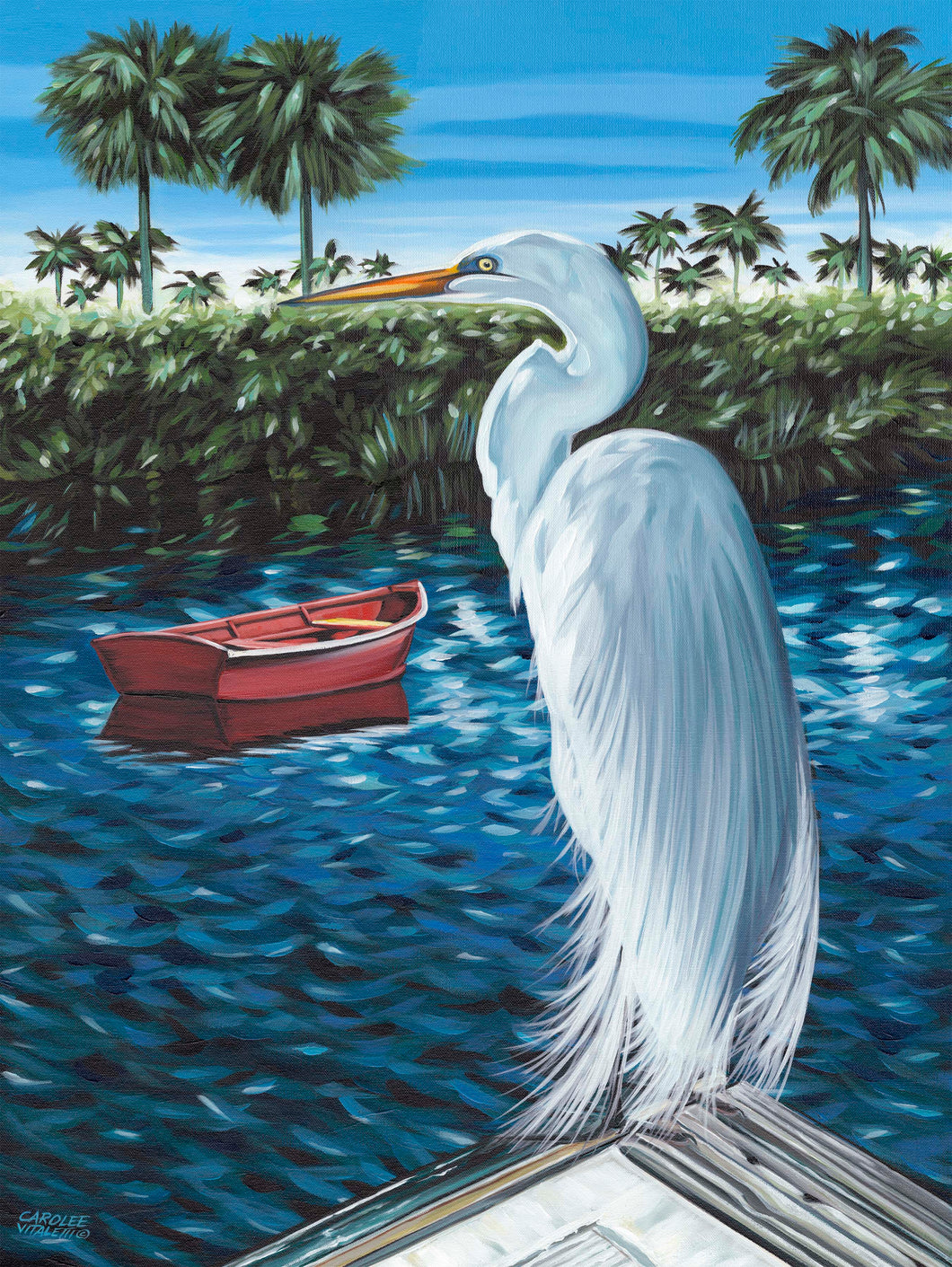 Peaceful Egret | Original Acrylic Painting