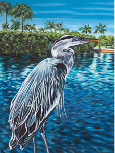 Peaceful Heron | Canvas Print