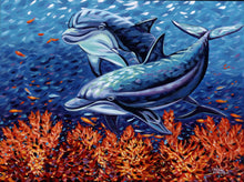 Load image into Gallery viewer, Playful Dolphins | Original Acrylic Painting