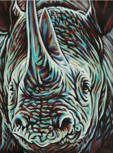 Powerful Rhino | Original Acrylic Painting
