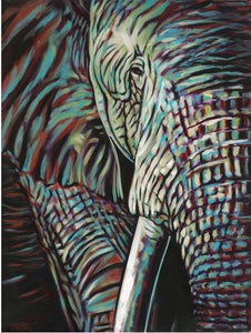 Powerful Elephant | Original Acrylic Painting