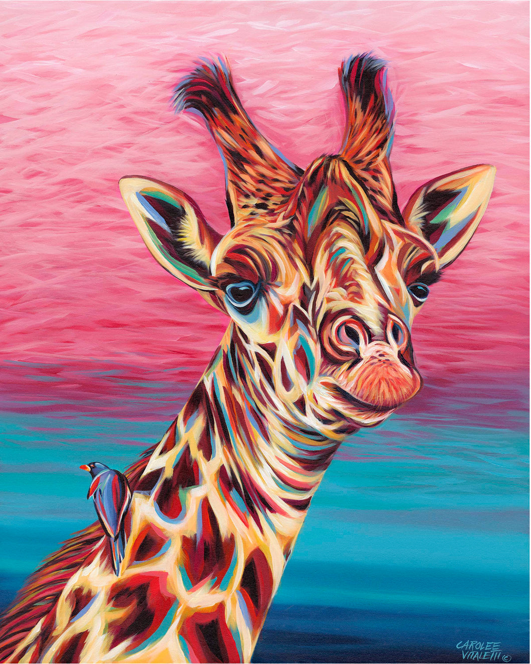 Sky High Giraffe | Canvas Print