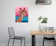 Load image into Gallery viewer, Sky High Giraffe | Original Acrylic Painting